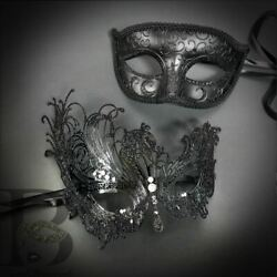 Masquerade Masks for Couples Black Masquerade Masks