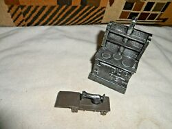 Vintage Metal Antique Stove And Sewing Machine See Pics Dollhouse Size