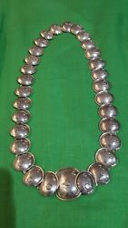 Rare Vintage Manuel Altamirano 925 Sterling Silver And039armadilloand039 Necklace Wow