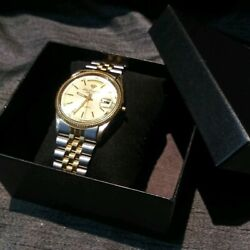 JULES JURGENSEN DAY DATE PRESIDENT SWISS MADE WATCH IN WORKING PRE OWNED COND. $79.95