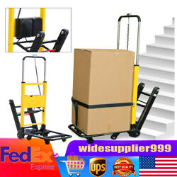 Electric Stair Climbing Hand Truck Folding Utility Cart 6 Wheels 440lb Max Load