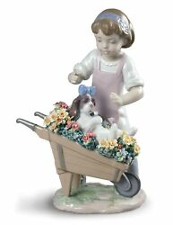 Lladro Letand039s Go For A Ride Girl Figurine 01009133