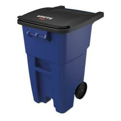 Brute Rollout Container Square Plastic 50 Gal Blue