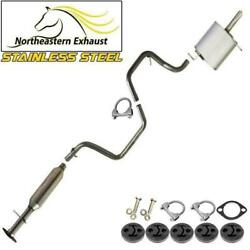 Stainless Steel Exhaust System With Hangers And Bolts Fit 2004-08 Chevy Malibu