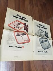 9 Ultra Rare Coca Cola Advertising Pages. These Are Printer Proofs 1972 And 73