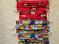 Child sized face mask one size fits most.  Minnie Mouse Paw Patrol Others