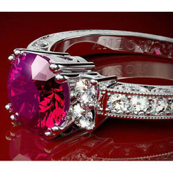 950 Platinum Genuine Ruby And Diamond Ring Available A Matching Wedding Ring.