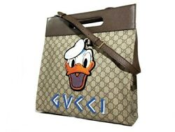 Auth GUCCI GG Supreme Neo Vintage 2way Hand Shoulder Bag Donald Duck 20008295SI