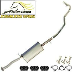 Stainless Steel Exhaust Kit With Hangers And Bolts Fit 98-2000 Hombre Sonoma S10