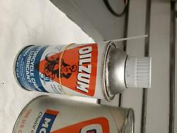Nos Vintage Oilzum Chain Lube Oil Can Great Graphics Full Harley Motorcycle Coll