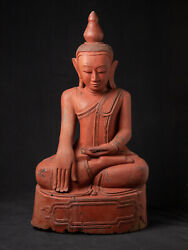 Old Teakwooden Buddha Statue From Burma Early / Middle 20th Century