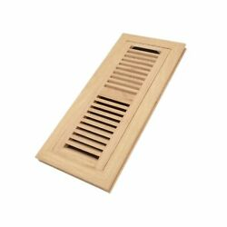 Red Oak Wood Flush Mount Floor Register Vent Cover, 4x12 Inch Duct Opening,...