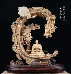 18and039and039 Natural Eaglewood Agalloch Hand-carved Dragon Sun Wukong Monkey King Statue