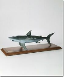 50and039and039 Bronze Copper Carved Home Fengshui Decor A Big Fish White Shark Statue