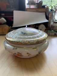 Gold Anchor 18th Century Chelsea Porcelain Covered Dish/hair Receiver