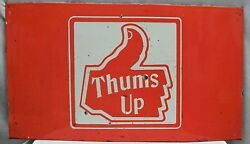 Vintage Thums Up Cold Drinks Sign Advertise Porcelain Enamel Collectable Old 2