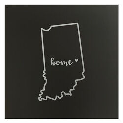 Indiana Home State Map Wall Art Office Decor Gift Engraved In