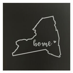 New York Home State Map Wall Art Office Decor Gift Engraved Ny