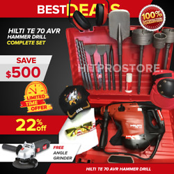 Hilti Te 70 Avr Hammer Drill, Preowned, Free Angle Grinder, Quick Ship