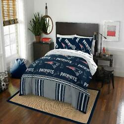 Nfl New England Patriots Bed In Bag Set Full Queen Comforter Sheets Pillowcase