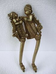 Antique Betel Nut Cutter Brass King And Queen Pattern Collectibles Rare Genuine F