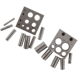 Round Disc Cutter Set Metal Crafting Mixed Holes Circle Punches Jewelry Tool