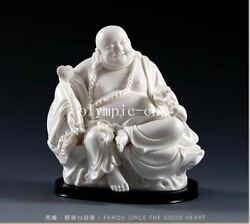 10and039and039 Dehua White Porcelain Limited Edition Lucky Buddha Play Toad Golden Toad