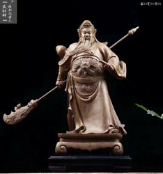 22and039and039 Agalloch Eaglewood Handwork Home Fengshui Decor Temple Buddha Guan Gong
