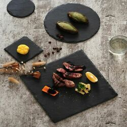 Natural Slate Dish Solid Rectangle Stone Barbecue Fruit Plate Cheese Pizza Tray
