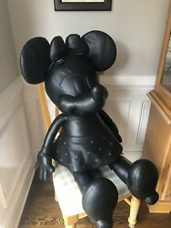 Coach Disney X Minnie Mouse Le Doll Leather Black Nwt Rare Very Large Sold Out