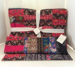 Pottery Barn Apple Blossom Patchwork Quilt, Pillow Cover Pauline Boyd New