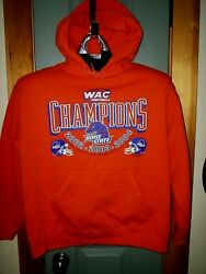 Boise State Hoodie Pullover F.o.l Brand Size Lg Heavy Mint Wac 02/03/04 Champ