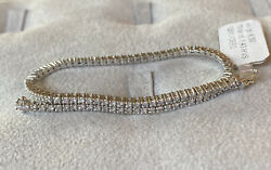 Tennis Bracelet White Gold 750 °/°° And Natural Diamonds Bright Ct. 1,43