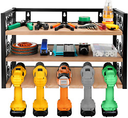 Power Tool Storage And Tool Organizer Drill Charging Station Five Drill Slots