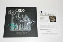 KISS BAND SIGNED AUTHENTIC 'DRESSED TO KILL' VINYL RECORD ALBUM LP wCOA X4