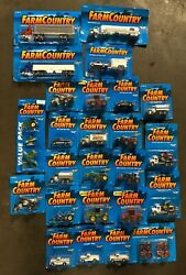 25 Piece Lot - Ertl Tractor Pickup Truck Farm Country New Die-cast Cars 1997