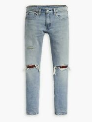 Levis Mens 512 Slim Taper Light Stretch Destroyed Patched Jeans Tag Size 33x32