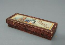 Antique Box Of Dominoes-- Germany