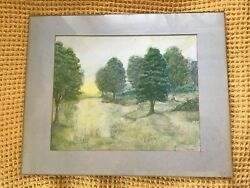 Original Genuine Karen Fisher Signed Watercolour Painting Signed And Dated
