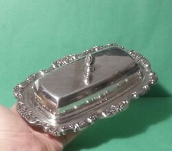 Poole Silver Butter Plate Silverplated Lancaster Rose