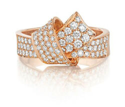 2.10ct Natural Round Diamond 14k Solid Rose Gold Cocktail Ring Size 7