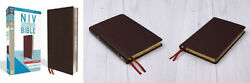 Niv, Thinline Bible, Large Print, Bonded Leather, Burgundy, Red Letter...