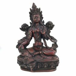 GREEN TARA Tibetan Statue Handmade from Nepal Resin 8 Inch $66.99