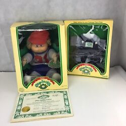 Nib Vintage 1984 Cabbage Patch Doll Augie Brenton And One Additional Outfit