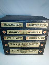 Johnson Medical Plaster Metal Storage Box Pharmacy Early 1900and039s