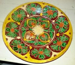 Earthenware Plate Vintage Hand Painted Multan Pakistan Kutch Collectibles Old 2
