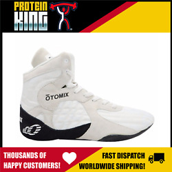 Otomix Stingray Us-12 White Shoes Flat Sole High Top Gym Mma Fighting Lifting