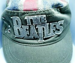 Beatles Cap Hat Military Style Flat Top Cotton Fitted Buckle Embellished Look