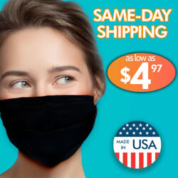 Face Mask Double Layer Reusable Mouth Cover Protection Carbon Filter Washable 👀