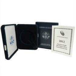 2012-w Proof 1 American Silver Eagle Box Ogp And Coa No Coins